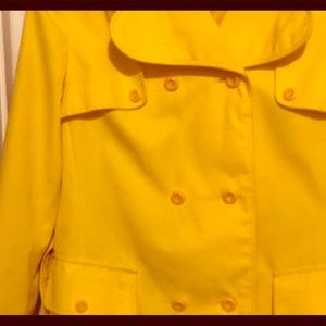 Yellow  women's trench coat Preloved size 16